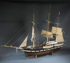 Picture 4: New England Whale Ship, about 1850. This model shows the typical outfit and gear for a deepwater whaling ship of the mid-1800s, when the industry was at its peak.