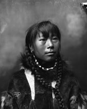 Picture 5: Inupiaq woman with braided hairstyle