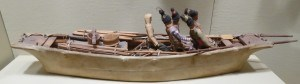 Picture 3: An umiak, made in 1920, which was shown at the Portland Museum of Art.